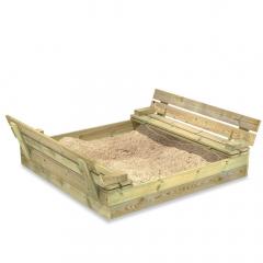 Sandkasten Flip mit Klappdeckel 120x125 cm