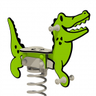 """Federwippe Wickey PRO Krokodil """"Crockey"""""""